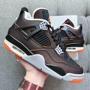 🤎🧡 🦍 Nike Air Jordan 4 Retro brown orange shoes